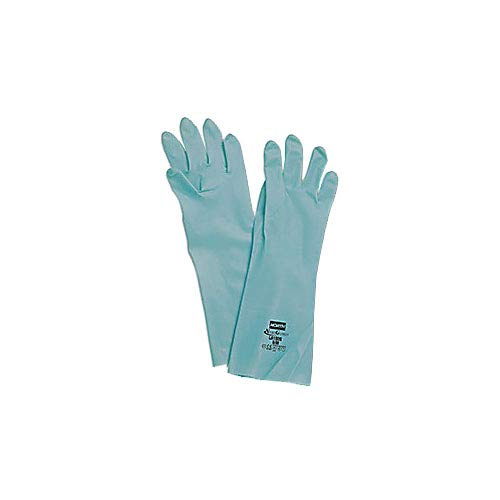 Honeywell LA102G/10 Nitri-Guard Nitrile Gloves, Green, 11 mil (0.28 mm), 13'' (33 cm), Unflocked, Size 10/XL (Pack of 144) by Honeywell (Image #1)