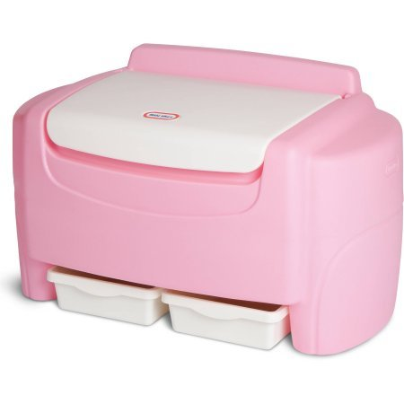 Little Tikes Sort N' Store Toy Chest - Pink