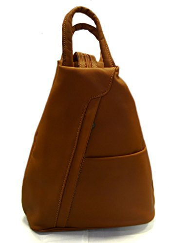 Leather backpack honey ladies mens lether travel bag weekender sportsbag gym bag shoulder bag sling backpack satchel hobo bag genuine calf leather by ItalianHandbags