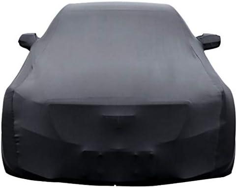 互換性とBMW xDriveのM760Liリムジン弾性生地カーカバー通気性耐久性に優れた伸縮モバイルガレージカーシールド防塵断熱日焼け止め (Color : Black)