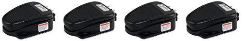 Linemaster 632-S Clipper Foot Switch, Electrical, Single Pedal, Momentary, Single Stage, No Guard, Black 4- Pack