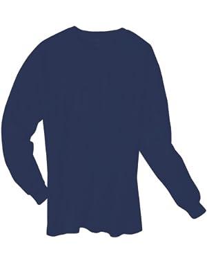 Long Sleeve Cotton Tagless Tee 6.1oz, Deep Navy, XL