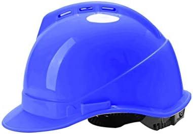 LCSHAN 安全ヘルメットサイト高強度ABSエンジニアリング建設換気 (Color : Blue)