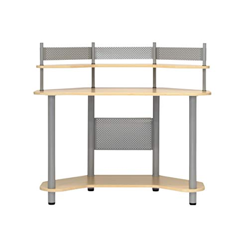 Calico Designs 55124 Study Corner Desk, Silver with ()