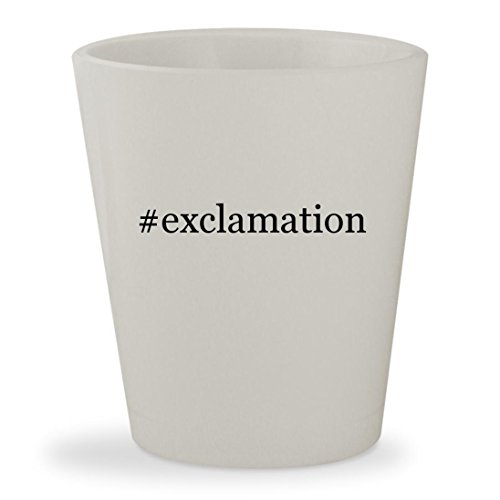 #exclamation - White Hashtag Ceramic 1.5oz Shot Glass (Athena Pub Set)