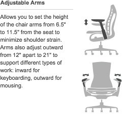 Herman Miller Embody Ergonomic Office Chair | Fully Adjustable Arms and Carpet Casters | Carbon Balance