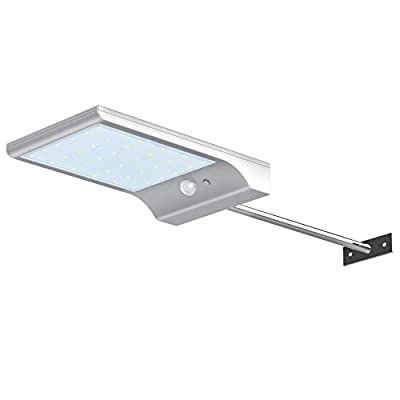 InnoGear Solar Gutter Lights Wall Sconces with Mounting Pole Outdoor Motion Sensor Detector Light Security Lighting for Barn Porch Garage