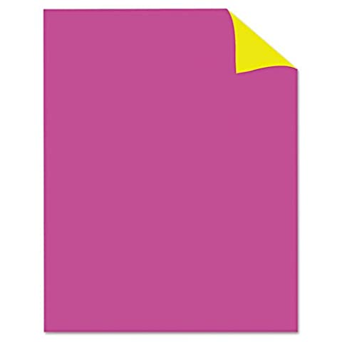 Royal Brites Two Cool Poster Board, 22 x 28, Fluorescent Pink/Canary, 25/PK - Fluorescent Pink Poster Board