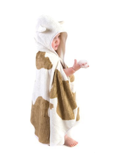 Cuddledry Cuddlemoo Organic Toddler Towel by Cuddledry