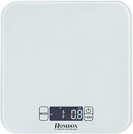 Homdox - Robot de cocina, con báscula electrónica de cocina, función de tara, alta precisión (15 kg/1 g), Weiss: Amazon.es