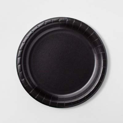 Halloween Paper Plates 30ct Black - Hyde and Eek! Boutique153; -