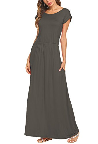 Bluetime Hem Knit Asymmetric Open Drape Women's Khaki Front Maxi Long Cardigan gwrYPg