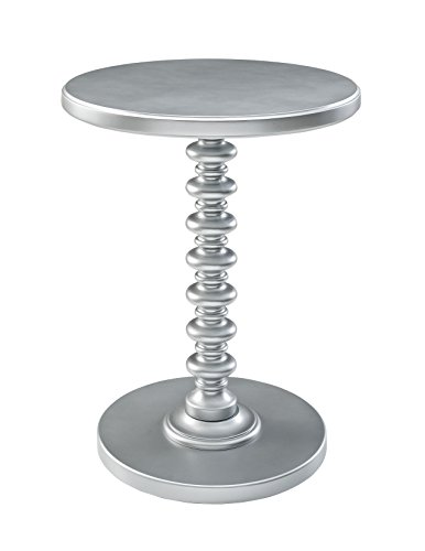 Powell Furniture Round Spindle Table, Silver