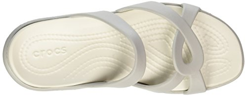 Meleen Crocs Bout White oyster pearl Sandales Ouvert Femme White Blanc oyster Pearl Twist T6F6wdxq