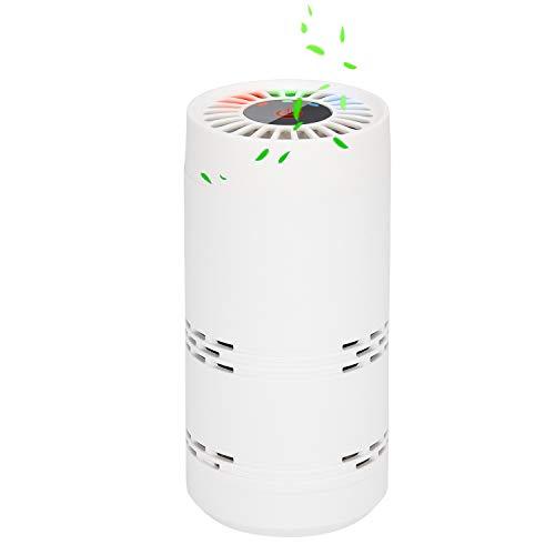 BESTBOMG Purificateur d'air Portable - Purificateur d'air avec Nouvelle Technologie Ionique Eliminer Les Poussière, Pollution, Odeur, Allergène pour Voiture et Petite Chambre