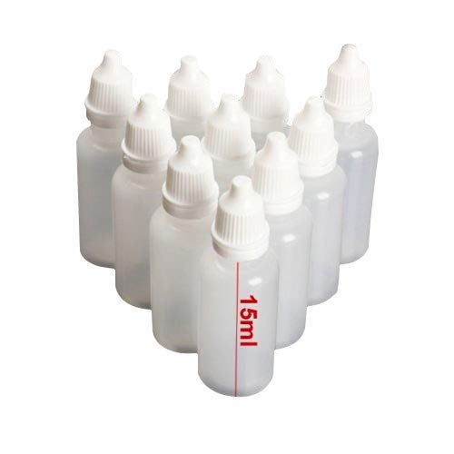 TOOL GADGET® Plastic Dropping Bottles Vial of Liquid Eye Liquid Dropper, 15ml, 12 pack