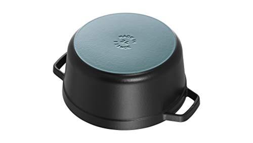 STAUB Round Dutch Oven 4-Quart Matte Black Salted Salad
