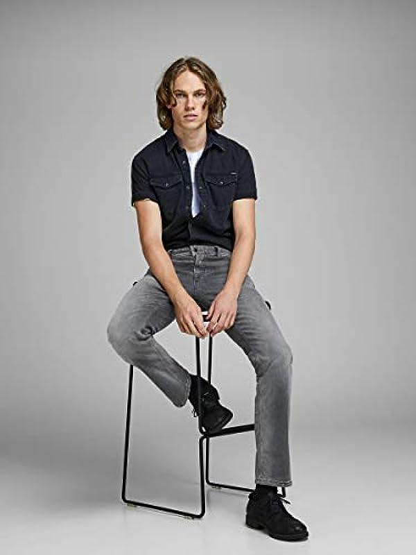JACK & JONES Male Regular fit Jeans Clark ORIGINAL JOS 183: Odzież
