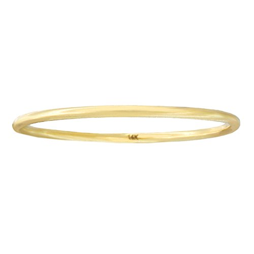 Automic Gold Solid 14k Yellow Gold Line Ring, Size 8 by Automic Gold