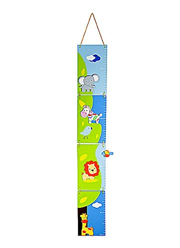 Colorful Safari Themed Kids Growth Chart Height Chart - Ideal for Girls or Boys Nursery or Bedroom Mousehouse Gifts