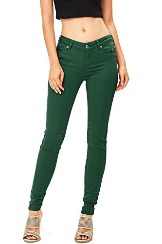 Celebrity Pink Women's Juniors Mid-Rise Jeggings Fit Skinny Pants (5, Forest) by Celebrity Pink