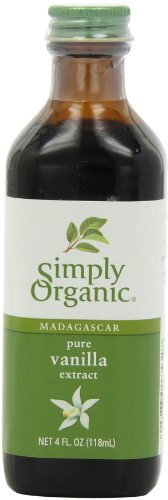 Simply Organic Pure Vanilla Extract, Certified Organic, 4-Ounce Glass Bottle