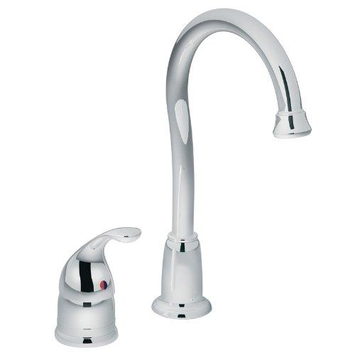 Lever Single America Kitchen Faucet (Moen 4905 Camerist One-Handle High Arc Bar Faucet, Chrome)