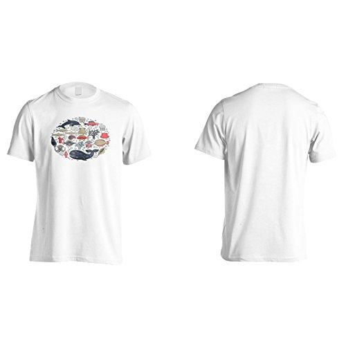 Neues Marine Leben Abgerundet Herren T-Shirt l126m