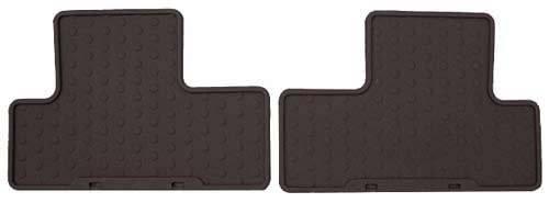 Mini Mania Rubber Rear Floor MATS Black OEM - R50/53 Cooper & S Hatchback ()