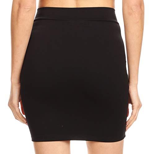 Fabriquée Élastique Aux unis Bodycon Sakkas Slim Minijupe Noir Basic Unie États Femmes Maraya Pour nNwOm8yv0