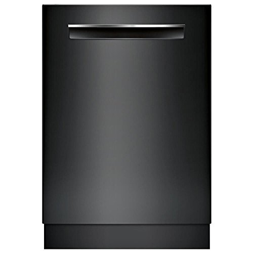 "Bosch 500 Series 24"" Pocket Handle Dishwasher with Stainless Steel Tub Black SHPM65W56N"