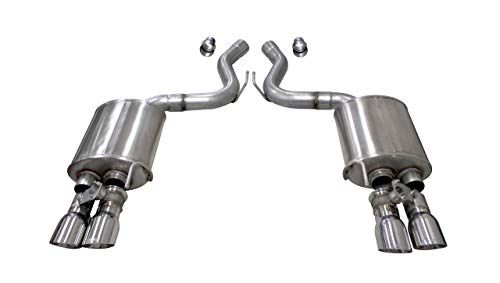 Corsa Exhaust 2018-2019 Ford Mustang Gt Dual Rear Exit, Valve Axle-Back Exhaust System with Twin 4.0