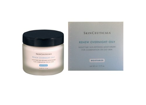 Skinceuticals Renew Overnight Oily Nighttime Skin-refining Moisturizer For Combination Or Oily Skin, 2-Ounce Jar S1369900