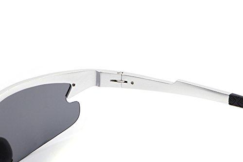Hombres Gafas la Silver oculos de de Marca Polar Sol Brown Diseñador New Sol conducción lan Gafas Gafas Moda de de los de Masculino de Shuo Color cuadradas IFwqO6xx