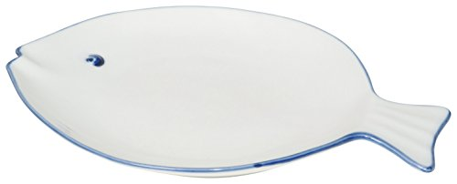 Now Designs Fish Shaped Plate, White, Set of - Plate Set Shaped