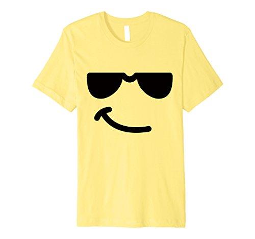 Mens Halloween Emoji Costume Shirt for Adult Boys Girls Small Lemon