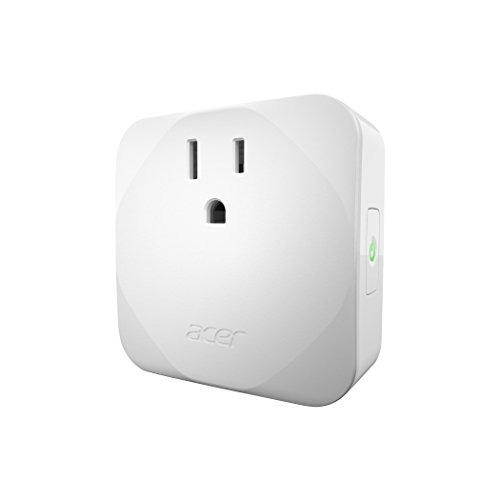 Acer Smart Plug With Power Meter  Wifi Enabled  No Hub Required  Remote Control By App  Timer And Scheduling Function  Overload Protection