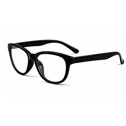 BXT Unisex Womens Mens Full Rim Round Clear Lens Plain Glasses Eyeglasses UV Radiation Protection,Anti Blue Ray, Anti-reflective, Anti-glare Computer Reading Gaming Glasses Eyewear - For Protection Computer Screen Eyeglasses