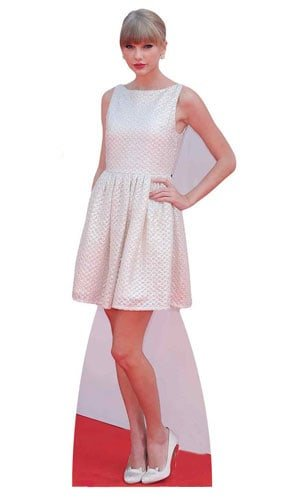 Celebrity Standee Taylor Swift Life Size Cardboard Table Top Mini Cut Out, Wood, Multi-Colour, 182 x 63 x 182 cm by Star Cutouts