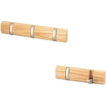 love kankei wood flip hook rackrail wall mounted with 32 hooks entryway bedroom hats bags keys clothes hanger mini coat hooks - Retractable Coat Hook