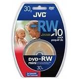 JVC VD-W14G10SP Spindle de 10 DVD-RW ré-inscriptible Camescope 1,4 Go 30 mn Vitesse X2