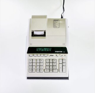 Monroe 8145 Ivory Heavy-Duty Calculator