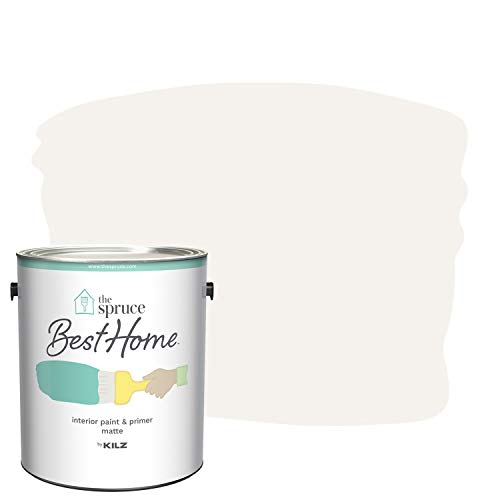 The Spruce Best Home by KILZ 15124801 Interior Matte Paint & Primer in One, 1 Gallon, SPR-25 First Frost