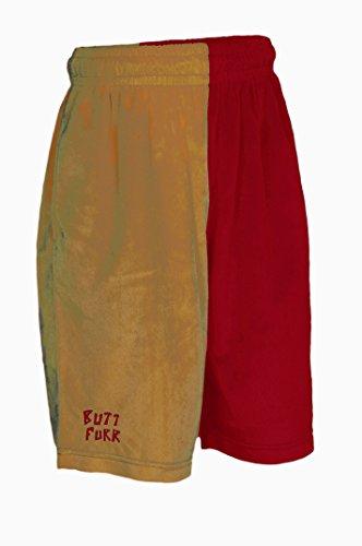 (Butt Furr Shorts - Crimson & Gold - XLarge