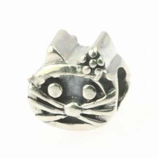 Beads Hunter Jewelry Silver Cat .925 Sterling Silver Bead Charm
