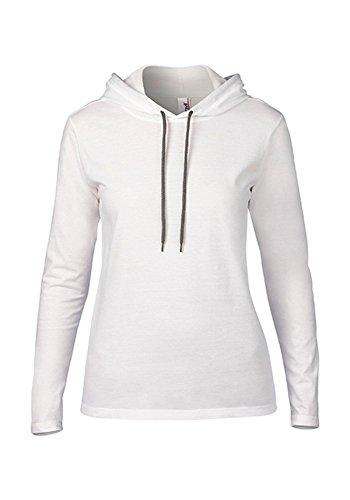 Sweat encapuchado mangas largas para Mujer White