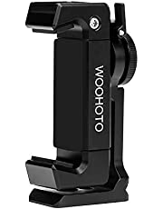 Newest Phone Holder Tripod Mount, Woohot 360 Degree Rotation,Metal Phone Tripod Mount with Cold Shoe,Compatible with DJI Osmo Pocket Holder Set, Mount Pro Smartphone Holder Video Rig Tripod Mount