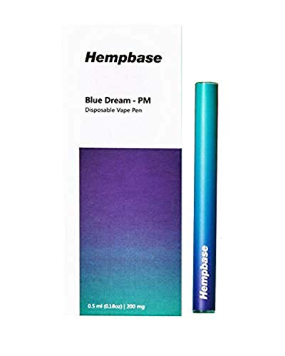 Hempbase Hemp Oil Extract Disposable Vape Cartridge 200mg, Helps with Muscle Tension, Jitters, and Stress Relief (Blue Dream - PM)