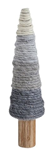 Heart of America Wool Yarn Tree On Wood Base Grey - 2 Pieces by Heart of America (Image #1)