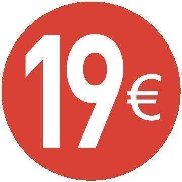 20mm Euro Adesivi Prezzo 20 Diversi Prezzi da Scegliere Tra 18 Euro Rosso Confezione da 200 Pezzi